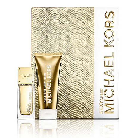 Michael Kors Sexy Amber Eau de Parfum 50ml & Body Lotion 100ml Gift Set fashion365 aromata set doron