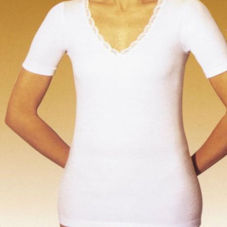 Φανέλα Velan Γυναικεία Κοντό Μανίκι Velan 216320 Λευκή Μέγεθος 2