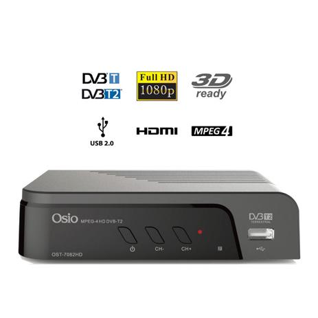 Ψηφιακός Αποκωδικοποιητής MPEG4 Osio OST-7082FHD 3D, με 1 Τηλεχειριστήριο Τηλεόρ hlektrikes syskeyes texnologia eikona hxos apokodikopoihtes mpeg4