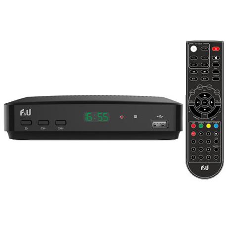 Ψηφιακός Δέκτης MPEG4 F&U MPF3572HU με Τηλεχειριστήριο 2 σε 1 hlektrikes syskeyes texnologia eikona hxos apokodikopoihtes mpeg4