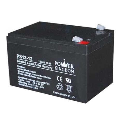 Μπαταρία Μολύβδου 12V 12Ah Power Kingdom PS12-12 hlektrikes syskeyes texnologia hlektrologikos ejoplismos mpataries