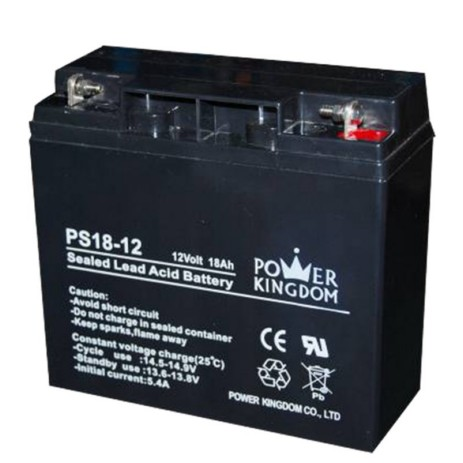 Μπαταρία Μολύβδου 12V 18Ah Power Kingdom PS18-12 hlektrikes syskeyes texnologia hlektrologikos ejoplismos mpataries