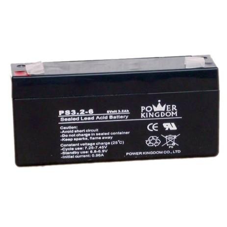Μπαταρία Μολύβδου 6V 3.2Ah Power Kingdom PS3.2-6 hlektrikes syskeyes texnologia hlektrologikos ejoplismos mpataries