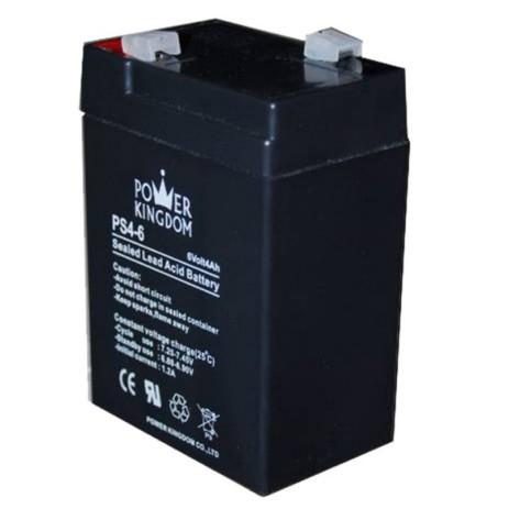 Μπαταρία Μολύβδου 6V 4Ah Power Kingdom PS4-6 hlektrikes syskeyes texnologia hlektrologikos ejoplismos mpataries