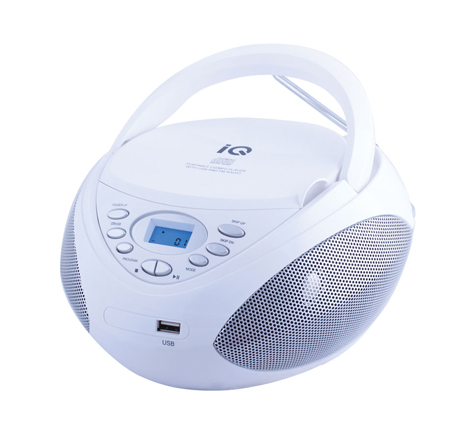 CD/MP3 Player IQ CD-497 Λευκό hlektrikes syskeyes texnologia eikona hxos radiocdhi fi