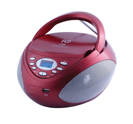 CD/MP3 Player IQ CD-497 Κόκκινο hlektrikes syskeyes texnologia eikona hxos radiocdhi fi