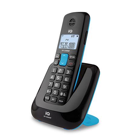 Ασύρματο Τηλέφωνο IQ DT-2340SP Μαύρο hlektrikes syskeyes texnologia stauerh thlefonia thlefona