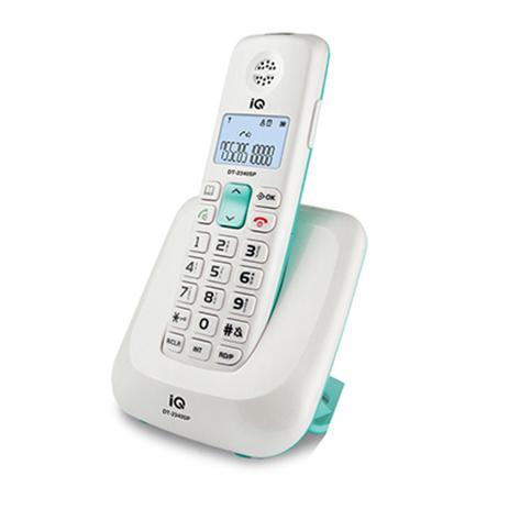 Ασύρματο Τηλέφωνο IQ DT-2340SP Λευκό hlektrikes syskeyes texnologia stauerh thlefonia thlefona