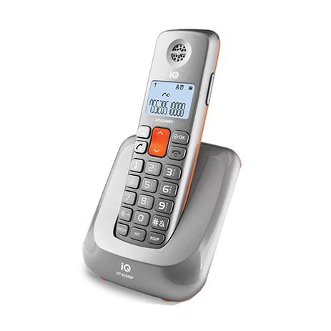 Ασύρματο Τηλέφωνο IQ DT-2340SP Ασημί hlektrikes syskeyes texnologia stauerh thlefonia thlefona