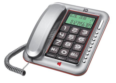 Επιτραπέζιο Τηλέφωνο με Αναγνώριση Κλήσης IQ DT-890CID Ασημί hlektrikes syskeyes texnologia stauerh thlefonia thlefona
