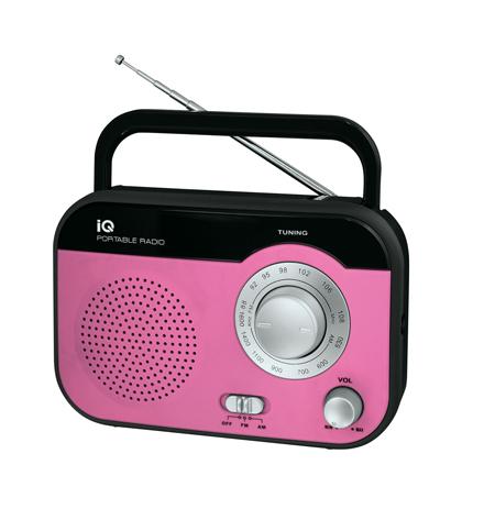 Φορητό Ραδιόφωνο FM/AM IQ PR-139 Ροζ hlektrikes syskeyes texnologia eikona hxos radiocdhi fi