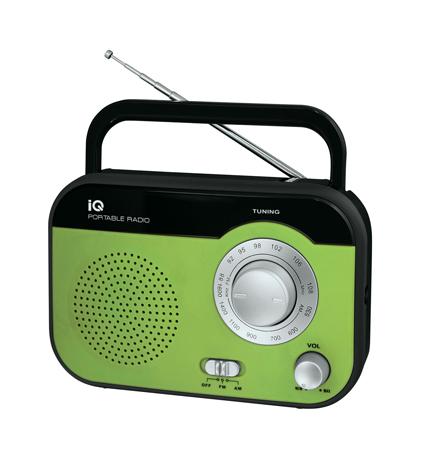 Φορητό Ραδιόφωνο FM/AM IQ PR-139 Πράσινο hlektrikes syskeyes texnologia eikona hxos radiocdhi fi