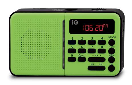 Φορητό Ραδιόφωνο FM/AM IQ PR-140 Πράσινο hlektrikes syskeyes texnologia eikona hxos radiocdhi fi