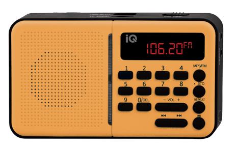 Φορητό Ραδιόφωνο FM/AM IQ PR-140 Πορτοκαλί hlektrikes syskeyes texnologia eikona hxos radiocdhi fi