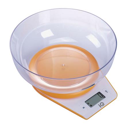 Ηλεκτρονική Ζυγαριά Κουζίνας IQ SC-732 Πορτοκαλί hlektrikes syskeyes texnologia oikiakes syskeyes zygaries koyzinas