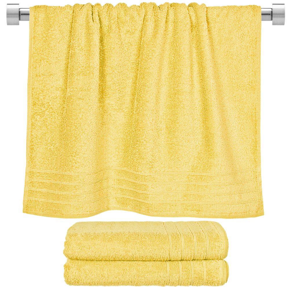 Πετσέτα Μπάνιου Κίτρινη 70x140cm Fennel Comfort TWCO-70140-YE, 4τμχ