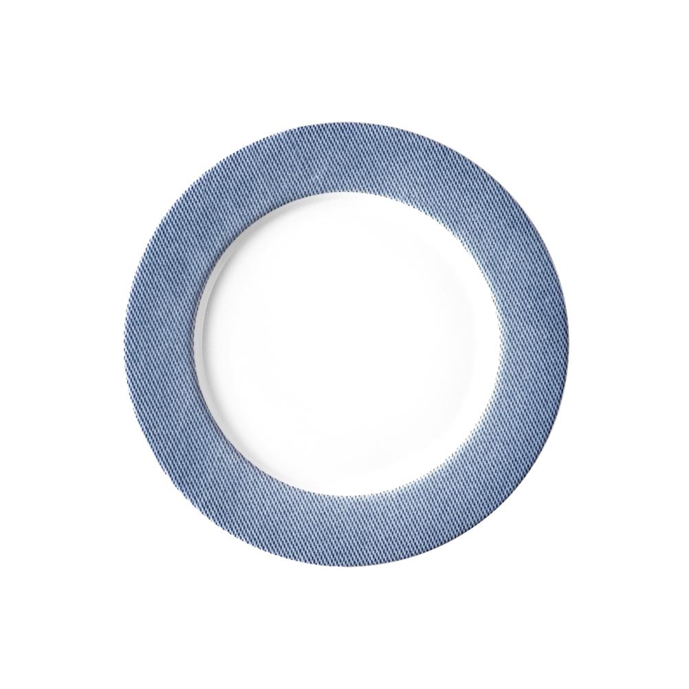 Πιάτο Ρηχό 27cm Πορσελάνη Μπλε Van Kottler Jeans-BL-FP-27, 6τμχ
