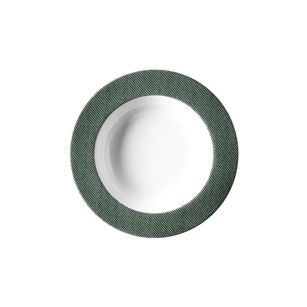 Πιάτο Βαθύ 23cm Πορσελάνη Πράσινο Van Kottler Jeans-GN-DP-23, 6τμχ
