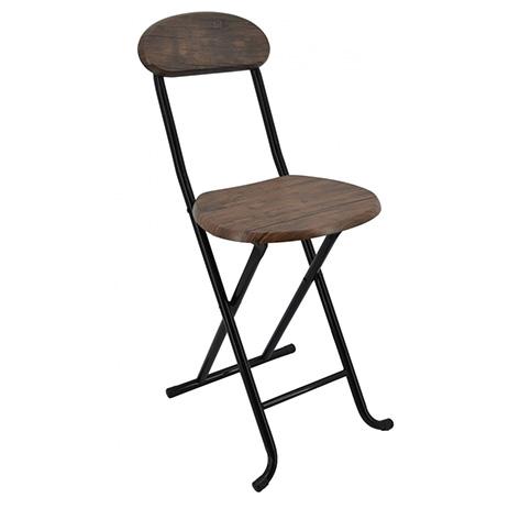 Καρέκλα Πτυσσόμενη Ξύλινη με Μεταλλικά Πόδια Χρώμα Σκούρο Καφέ 33x35x74 (749966) khpos outdoor camping khpos beranta epipla khpoy