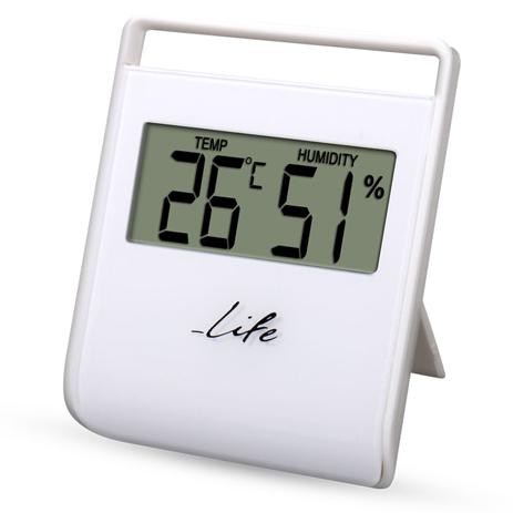 Ψηφιακό Θερμόμετρο-Υγρόμετρο Life WES-102 Λευκό paixnidia hobby gadgets meteorologikoi staumoi