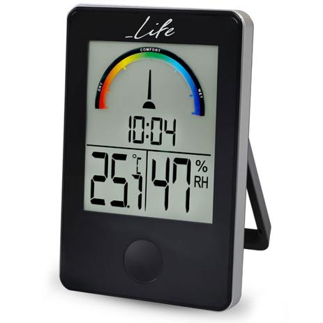 Ψηφιακό Θερμόμετρο-Υγρόμετρο Life WES-100 Μαύρο paixnidia hobby gadgets meteorologikoi staumoi