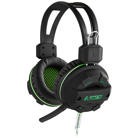 Gaming Headset με Ελαστικό Μικρόφωνο Nod G-HDS-002 Μαύρο hlektrikes syskeyes texnologia perifereiaka ypologiston akoystika