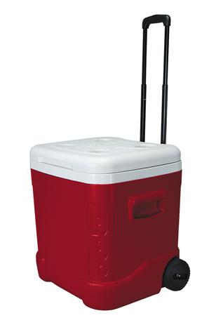 Φορητό Ψυγείο Igloo Ice Cube 60 Roller 57lt Κόκκινο
