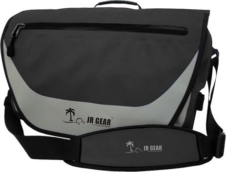 Αδιάβροχη Τσάντα Ώμου JR Gear 10+10L Μαύρη (12638) khpos outdoor camping epoxiaka camping ajesoyar paralias