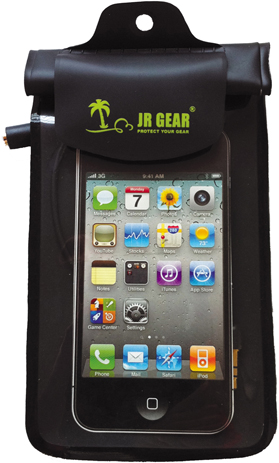 Στεγανή Θήκη JR Gear Κινητού Smartphone Μαύρη (12601) khpos outdoor camping epoxiaka camping ajesoyar paralias