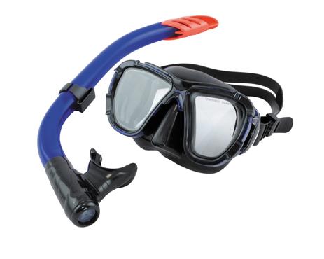 Σετ Μάσκα Αναπνευστήρα Bluewave Leon BK Blue TPP paixnidia hobby diving set