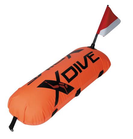 Σημαδούρα XDive PVC Με Κάλυμμα Nylon Πορτοκαλί paixnidia hobby diving ajesoyar