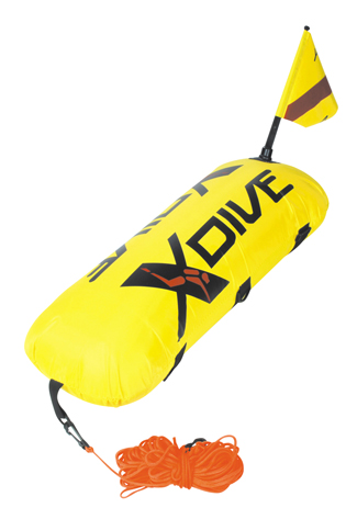 Σημαδούρα XDive PVC Με Κάλυμμα Nylon Κίτρινη paixnidia hobby diving ajesoyar