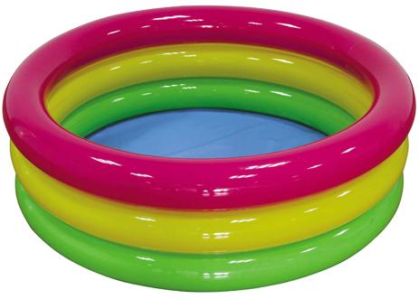 Χρωματιστή Φουσκωτή Πισίνα 3 Δαχτυλιδιών 114x38 cm 7-020521 khpos outdoor camping epoxiaka camping ajesoyar paralias