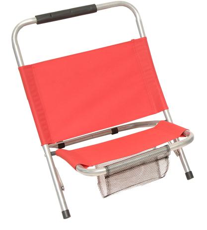 Καρεκλάκι Μεταλλικό Polyester 600D 142-4132-9 Κόκκινο khpos outdoor camping epoxiaka camping karekles paralias