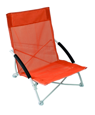 Καρεκλάκι Μεταλλικό Text 143-7782-2 Πορτοκαλί khpos outdoor camping epoxiaka camping karekles paralias