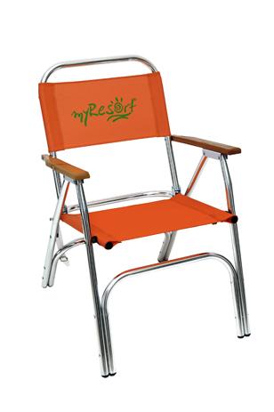 Καρέκλα Αλουμινίου Text Marine Myresort 151-9649-2 Πορτοκαλί khpos outdoor camping epoxiaka camping karekles paralias