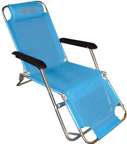 Πολυθρόνα Μεταλλική 4 Θέσεων με Text 152-8970-1 Μπλε khpos outdoor camping epoxiaka camping karekles paralias