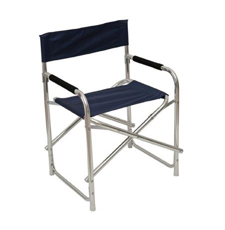 Πολυθρόνα Σκηνοθέτη Αλουμίνιο Polyester 151-1964-1 Μπλε khpos outdoor camping epoxiaka camping karekles paralias