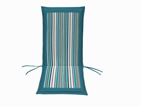 Μαξιλάρι Ψηλή Πλάτη Διπλής Οψης 35-14452-1 Γαλάζιο Ριγέ-Εκρού khpos outdoor camping khpos beranta ajesoyar