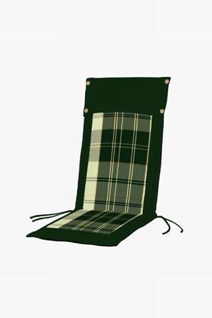 Μαξιλάρι Ψηλή Πλάτη Διπλής Οψης 35-20750 Καρώ Πράσινο-Πράσινο Μονόχρωμο khpos outdoor camping khpos beranta ajesoyar