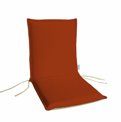 Μαξιλάρι Χαμηλή Πλάτη Διπλής Οψης 35-10744-1 Πορτοκαλί-Εκρού