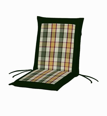 Μαξιλάρι Χαμηλή Πλάτη Διπλής Οψης 35-20736 Καρω-Πράσινο Μονόχρωμο