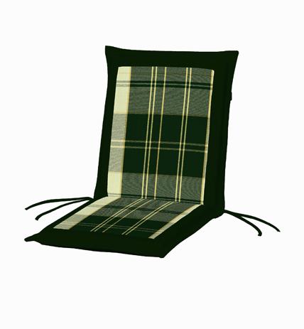 Μαξιλάρι Χαμηλή Πλάτη Διπλής Οψης 35-20767 Καρώ Πράσινο-Πράσινο Μονόχρωμο khpos outdoor camping khpos beranta ajesoyar