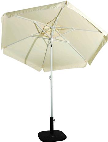 Ομπρέλα Βεράντας-Θαλάσσης 2m 372-6587-4 Εκρού khpos outdoor camping khpos beranta epipla khpoy