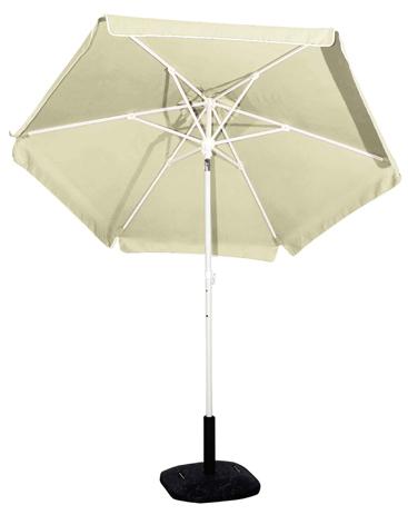 Ομπρέλα Βεράντας-Θαλάσσης 2m 372-6594-4 Εκρού khpos outdoor camping khpos beranta epipla khpoy