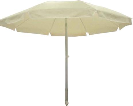 Ομπρέλα Βεράντας-Θαλάσσης 2m 372-5497-4 Εκρού khpos outdoor camping khpos beranta epipla khpoy