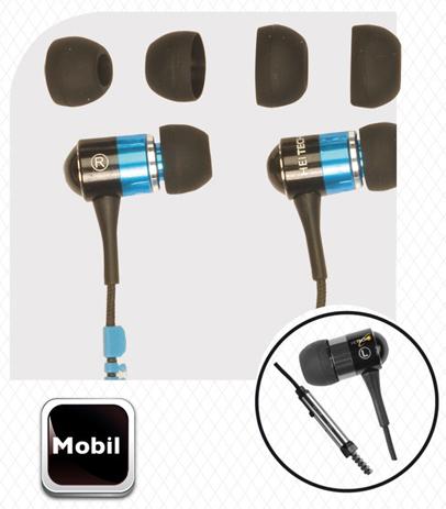 Ακουστικά Zipper 3,5mm Heitech 09001395 hlektrikes syskeyes texnologia perifereiaka ypologiston akoystika