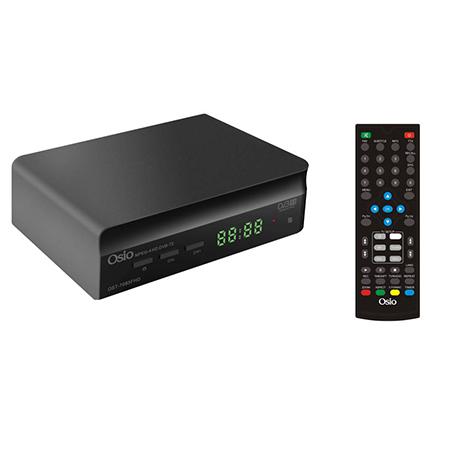 Αποκωδικοποιητής MPEG4 DVB-T/T2 Full HD με ένα Τηλεχειριστήριο Osio OST-7085 FHD hlektrikes syskeyes texnologia eikona hxos apokodikopoihtes mpeg4