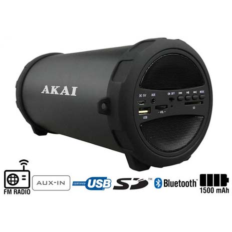 Φορητό Ηχείο Bluetooth Akai ABTS-11B hlektrikes syskeyes texnologia perifereiaka ypologiston hxeia
