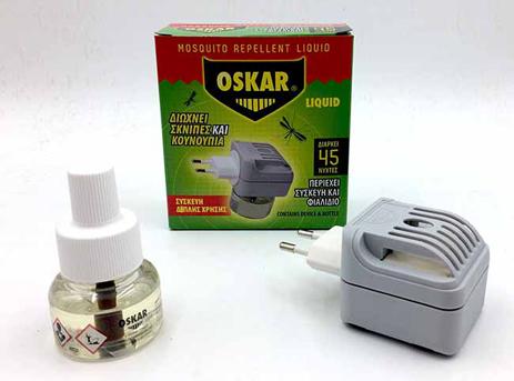Εντομοαπωθητική Συσκευή Διπλής Χρήσης Oskar με Υγρό 30ml 27518900-36 hlektrikes syskeyes texnologia oikiakes syskeyes entomoapouhtika